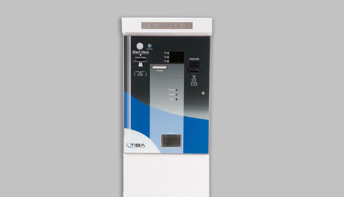 Image of parking garage payment equipment